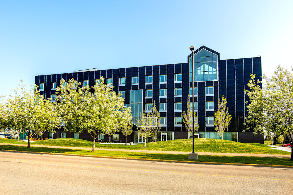 Clark Builders Commercial Photography Red Deer College Residence Crystal Puim Photography