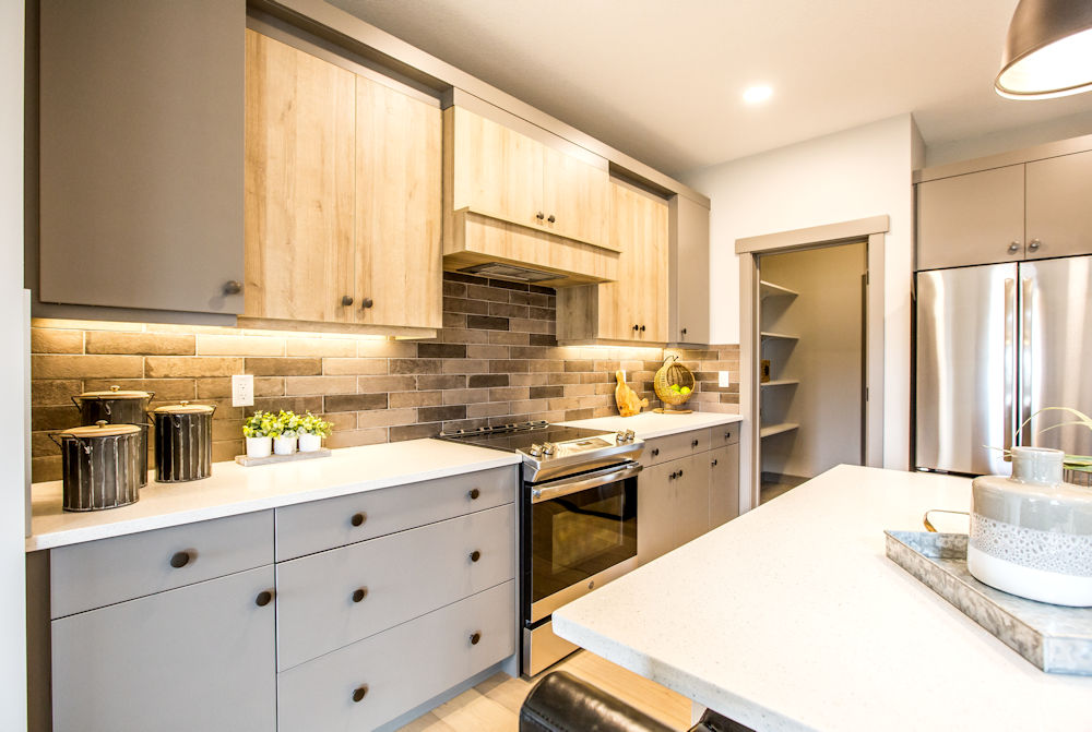 San Rufo Homes Spruce Grove 1239 Calahoo Road, Crystal Puim Photography Edmonton Showhome Photographer Kitchen