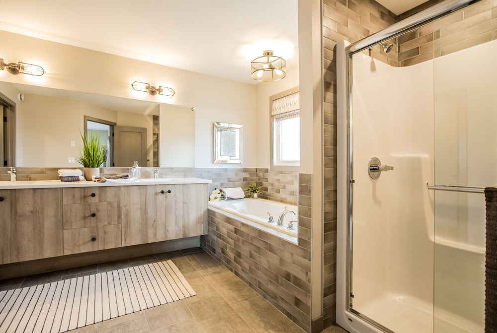 San Rufo Homes Spruce Grove 1239 Calahoo Road, Crystal Puim Photography Edmonton Showhome Photographer Ensuite