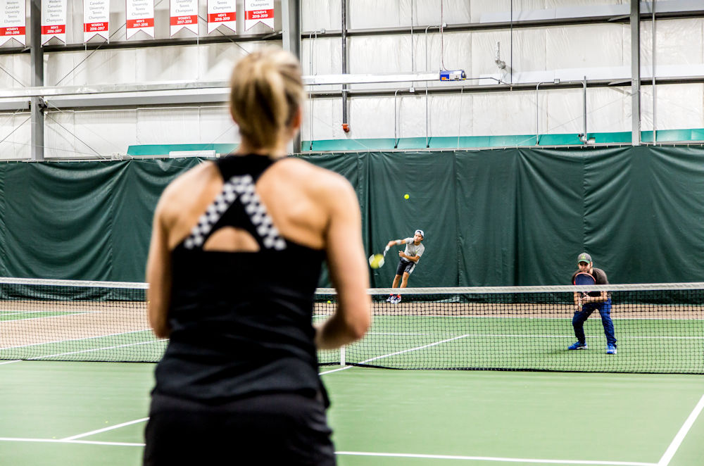University of Alberta Camus and Community Recreation campaign My Move. My Moment. Saville Centre South Campus Tennis