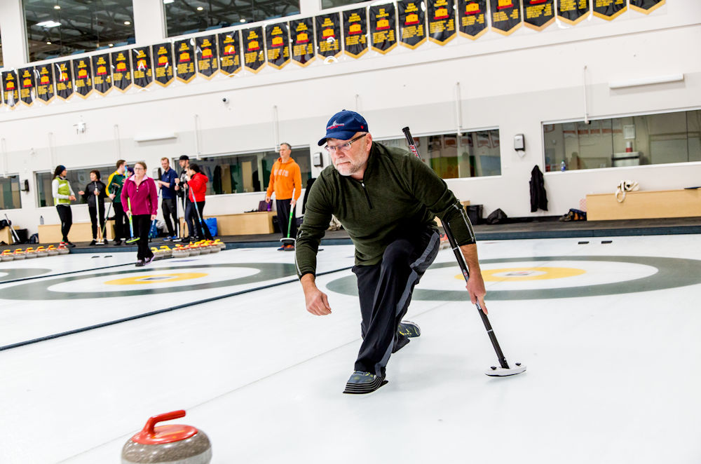 University of Alberta Camus and Community Recreation campaign My Move. My Moment. Saville Centre South Campus Curling