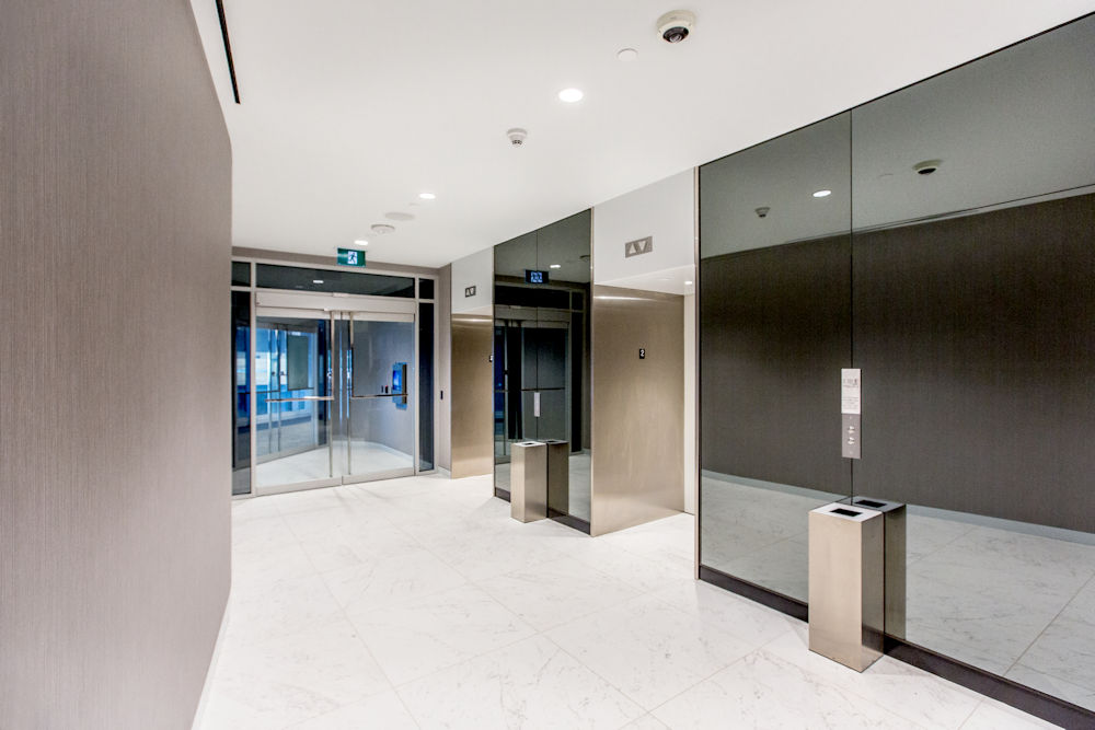 JW Marriot Ice District Suites by PCL Photography by Crystal Puim Photography Commercial Photography Elevators