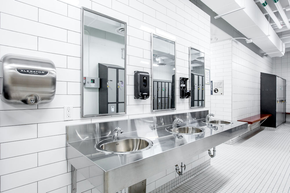 Bonnie Doon Leisure Centre Rehabilitation by Chandos Construction Ltd Photography by Crystal Puim Photography Commercial Photography Bathrooms