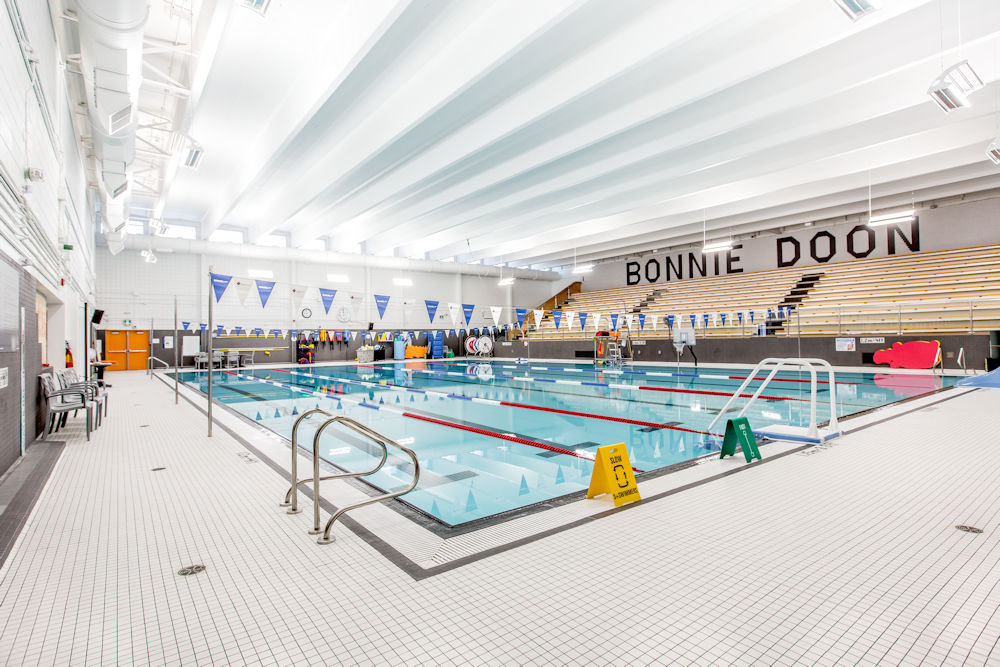 Bonnie Doon Leisure Centre Rehabilitation by Chandos Construction Ltd Photography by Crystal Puim Photography Commercial Photography Pool Area