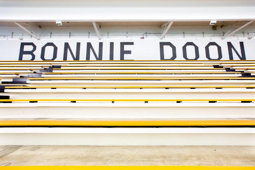 Bonnie Doon Leisure Centre Rehabilitation by Chandos Construction Ltd Photography by Crystal Puim Photography Commercial Photography Pool Bleachers