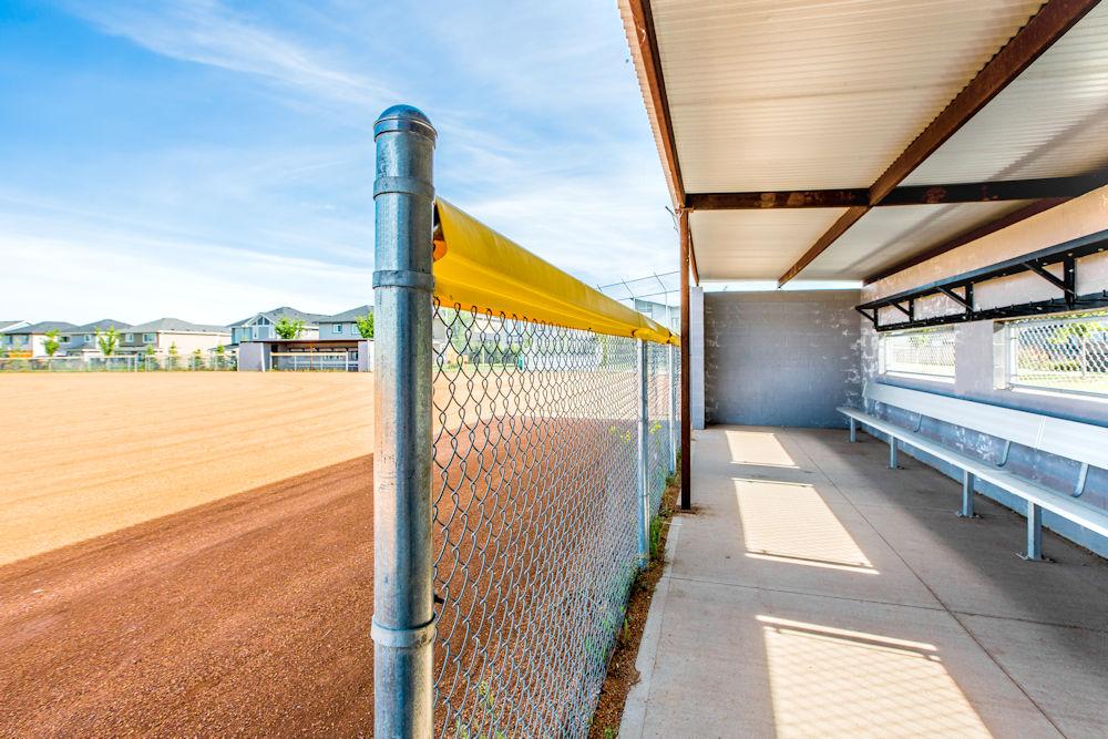 Community Photography and Streetscapes by Crystal Puim Photography in Edmonton Alberta Client Lamont Land Harvest Ridge Community Photos Spruce Grove- photo of baseball diamond