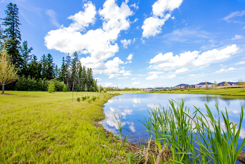 Community Photography and Streetscapes by Crystal Puim Photography in Edmonton Alberta Client Lamont Land Harvest Ridge Community Photos Spruce Grove Pond