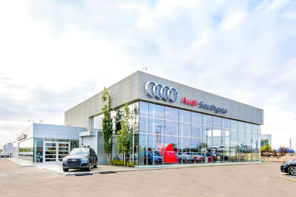 Southgate Audi Dealership Photos by Crystal Puim Photography Client Clark Builders Construction Edmonton Alberta Architectural Photography
