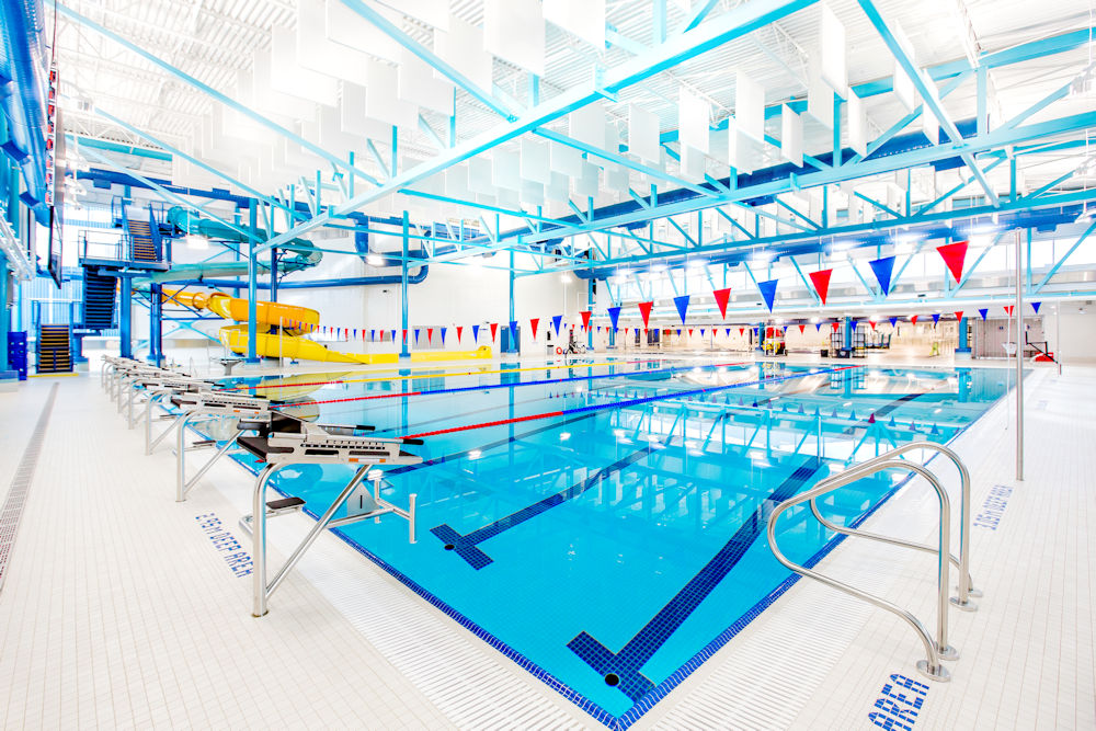 Camrose Aquatic Centre Photos by Crystal Puim Photography Client Clark Builders Construction Camrose Alberta Architectural Photography