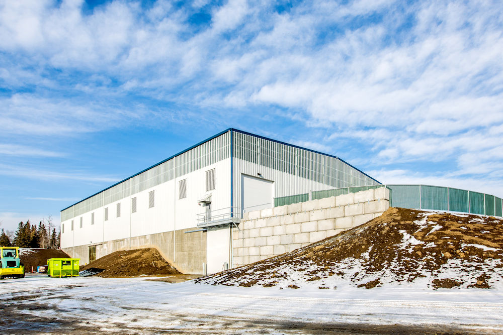 Commercial Architecture Client Chandos Construction Ltd. Stony Plain Parkland Transfer Station. Photography by Crystal Puim Photography