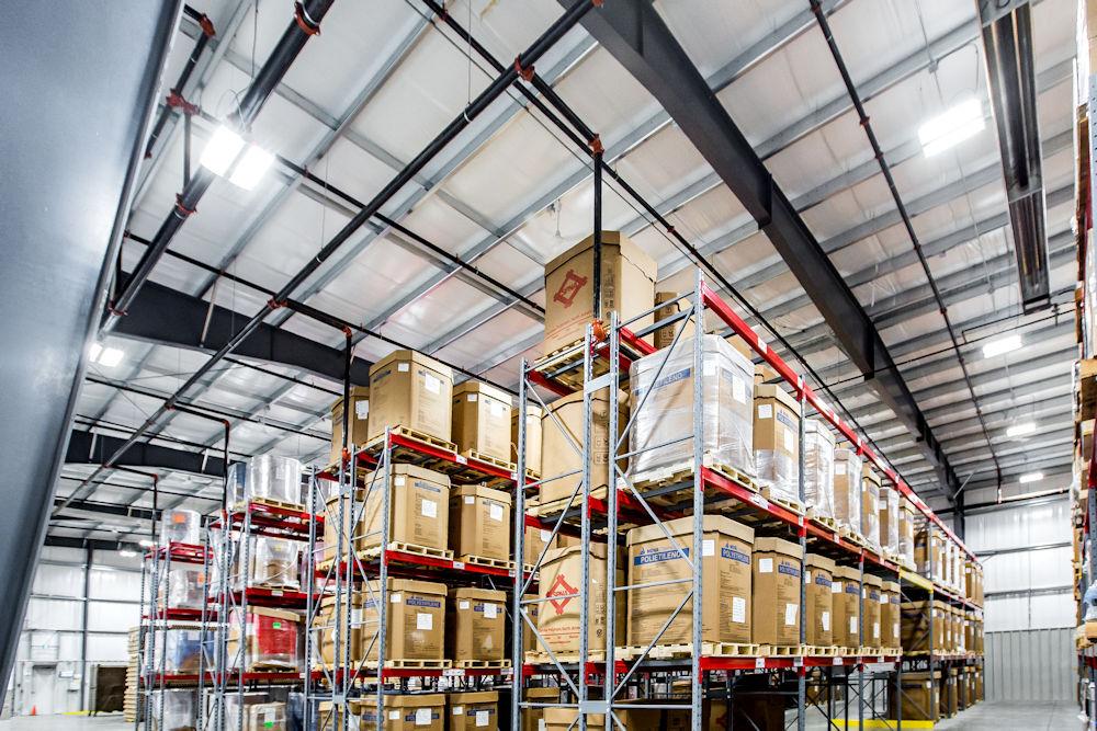 Commercial Architecture Client Clark Builders Construction. Mercury Plastics Warehouse Extension Edmonton Alberta. Photography by Crystal Puim Photography